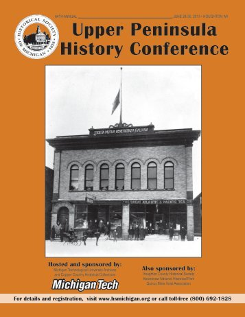 Upper Peninsula History Conference - Historical Society of Michigan