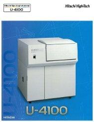 U-4100 General Brochure.pdf - Hitachi High Technologies America ...