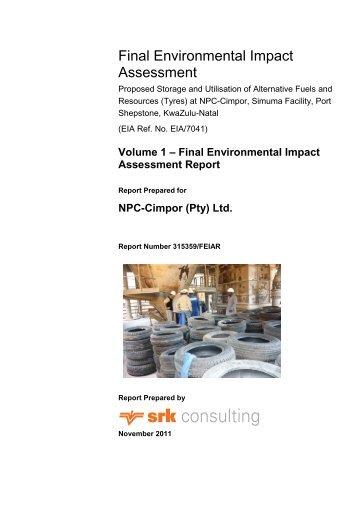 Final Environmental Impact Assessment Report - SRK Consulting