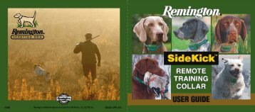 User Manual - Remington Sporting Dog