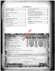 Misguided Ambitions - An Introduction to Earthdawn