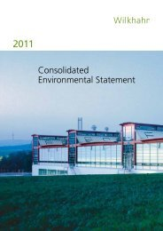 Consolidated Environmental Statement - Wilkhahn
