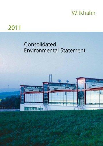 Consolidated Environmental Statement - Wilkhahn