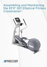 Assembling and Maintaining the EFX® 821 Elliptical Fitness ... - Precor