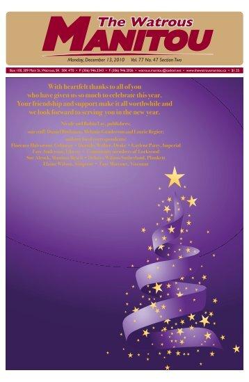 Watrous Christmas issue Dec. 13, 2010.pdf - Watrous Heritage Centre