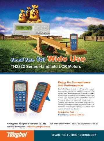 TH2822 Series Handheld LCR Meters
