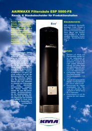 AAIRMAXX Filtersäule ESP 5000-FS - KMA Umwelttechnik GmbH