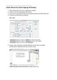 GDES2001 Graphic Information Design Adobe Illustrator Quick ...