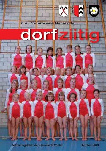 Dorfziitig Oktober 2013 - Gemeinde Winkel