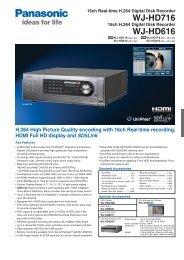 WJ-HD716 WJ-HD616 - Security Systems - Panasonic