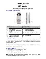 User's Manual MP blaster MP3 Player with Power Speaker - Lenco