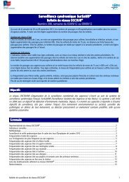 Surveillance syndromique SurSaUD - COLMU