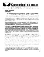 Communiqué de presse - David Suzuki Foundation