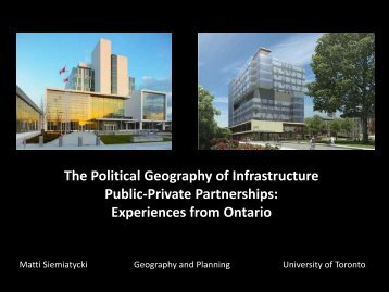 Presentation Slides - Cities Centre - University of Toronto