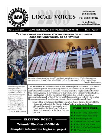 March - April 2011 - UAW Local 2209
