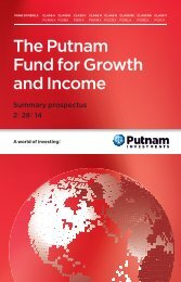 Fund for Growth and Income Summary Prospectus - Putnam ...