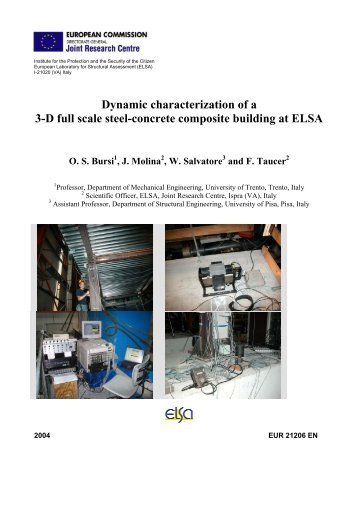 Dynamic characterization of a 3-D full scale steel-concrete ...