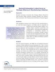 Rockwell Automation's Latest Focus on Strategic Alliances ...