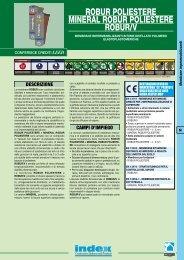 robur PoLIESTErE MINErAL robur PoLIESTErE robur/V - Index S.p.A.