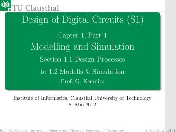 Design of Digital Circuits (S1) Modelling and Simulation