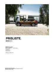 E84 - X1 03_2010 Veiledende prisliste PDF grunnlag - BMW