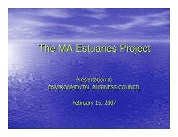 The MA Estuaries Project