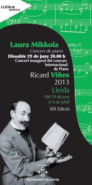 Concert de piano - Ajuntament de Lleida