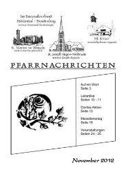 18.30 Uhr - Pastoralverbund Hüttental-Freudenberg