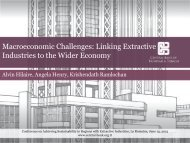 Linking Extractive Industries to the Wider Economy - Central Bank of ...