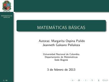 Números - Universidad Nacional de Colombia