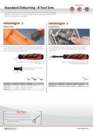 Standard Deburring - B Tool Sets - Vargus