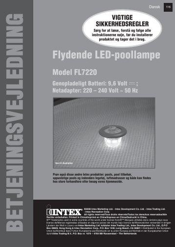 Flydende LED-poollampe - Intex Nordic