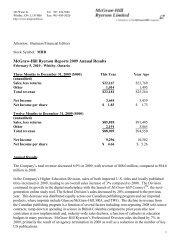4th quarter report - McGraw-Hill Ryerson