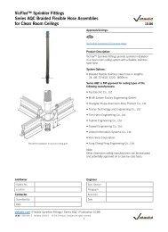 Vicflex™ Stainless Steel Sprinkler fittings 10.86 - Victaulic