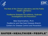 The Role of the Clinical Laboratory and the Public Health Laboratory ...
