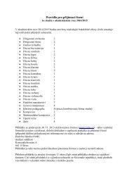 Směrnice pro uskutečnění přijímacího řízení pro akademický rok ...