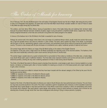 MThe Order of Mendi for bravery - The Presidency