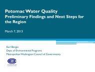 Potomac Water Quality Presentation - Metropolitan Washington ...