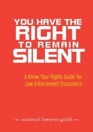NLG: You have the right to remain silent - National Lawyers Guild