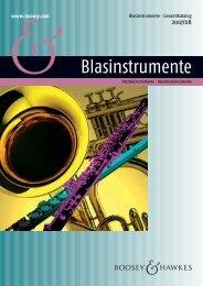 Werke für Blasinstrumente 2007/08 (dt.) - Boosey & Hawkes