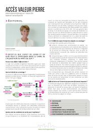 Bulletin trimestriel 1T 2013 Accès Valeur Pierre - Primaliance