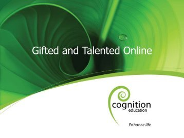 Gifted and Talented Online (PDF, 2 MB) - Gifted and Talented - TKI