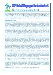 Sechster Informationsbrief - HSP-Selbsthilfegruppe Deutschland EV