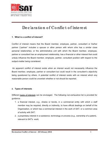 Cfpc mainpro declaration of conflict of interest form for Conflict of interest declaration template