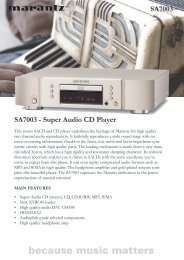 SA7003 - Super Audio CD Player SA7003 - Reference Audio