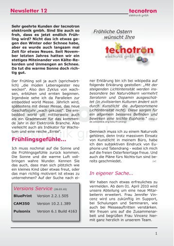 4 pulsonix tutorial newsletter 12 tecnotron malvernweather Choice Image