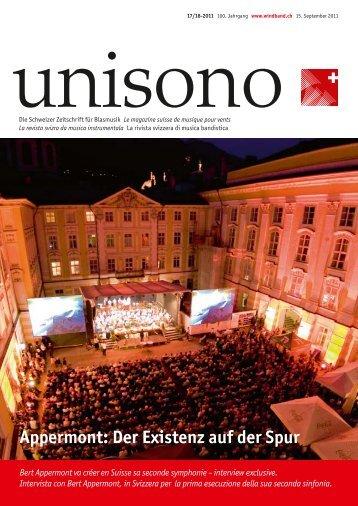 Appermont: Der Existenz auf der Spur - Schweizer Blasmusikverband