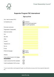 Supporter Program FSC International
