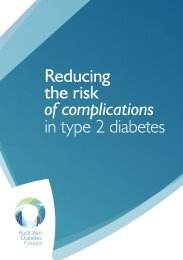 Reducing the risk of complications in type 2 diabetes - Australian ...
