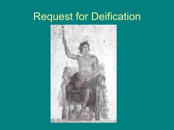 Alexander's Request for Deification
